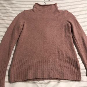 Madewell dusty pink mock neck sweater
